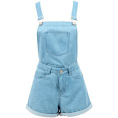 Rhythm Fun4alls Overalls | Shop Rhythm | Beginning Boutique ($60) ❤ liked on Polyvore featuring jumpsuits, rompers, shorts, overalls, dresses, bottoms, blue rompers, blue romper, blue overalls and blue bib overalls