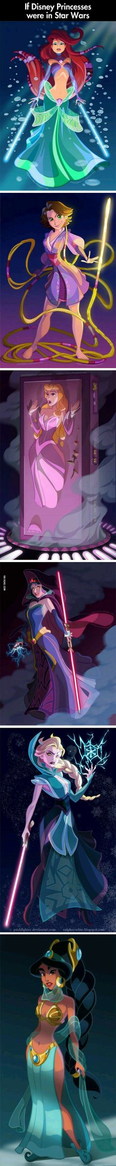If Disney Princesses Were In Star Wars. This is everything!!!!!!