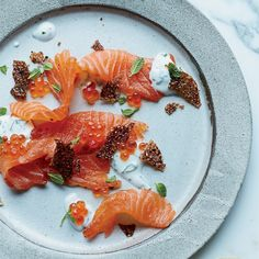 This best-ever miso-cured salmon gets flavor from white miso and black garlic sauce. Get the recipe from Food & Wine.