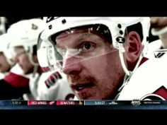 Former Ottawa Senators captain and current Detroit Red Wings forward Daniel Alfredsson returns to Ottawa and receives a chorus of cheers from the crowd. Daniel Alfredsson, Detroit Red Wings, Ottawa, Cry, Hockey, Mirrored Sunglasses, Happy, Youtube, Field Hockey