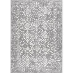 $213 nuLOOM Vintage Odell Silver 7 ft. 10 in. x 10 ft. 10 in. Area Rug-RZBD21C-71001010 - The Home Depot