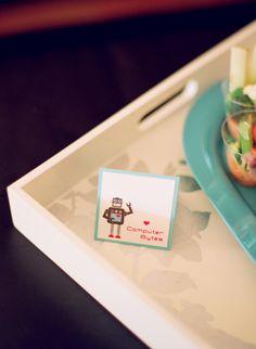 Robot Themed Baby Shower  by Heidi of idieh design via www.babyshowerideas4u.com #babyshowerideas4u