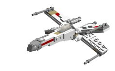 This is a (pretty big) Mini-/Midikit of the famous rebel X-Wing Starfighter, seen in the original trilogy of Star Wars (Episodes IV-VI).It is about 9 cm long and 8 cm wide.