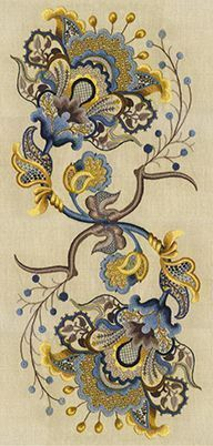 Cool website with crewel embroidery info and patterns. *it has been 4ever since I 'needled' fabric, instead of people!lol Beautiful piece. jn #CoolWebsitedesigns #crewelembroidery