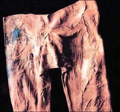 Pazyrk man's trousers with visible traces of darning from a 2,500 year old burial in the permafrost of Siberia's Altai. Click through for more