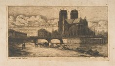 Charles Meryon (French, 1821–1868). The Apse of Notre-Dame, Paris, 1854. The Metropolitan Museum of Art, New York. Bequest of Susan Dwight Bliss, 1966 (67.630.26) #paris