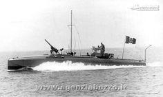 Navi da guerra | RN MAS 23 armato di canone in navigazione nell'Alto Adriatico 1917