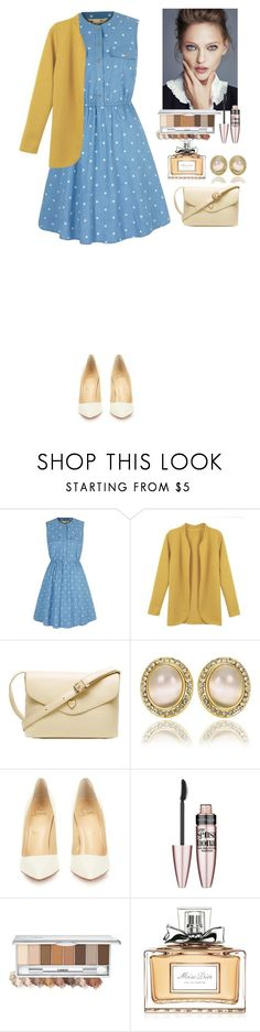"""""""Outfit TOMTOP"""" by eliza-redkina ❤ liked on Polyvore featuring Yumi, Christian Louboutin, Maybelline, Christian Dior, outfit, like, look, lovely and tomtop"""