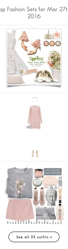 """""""Top Fashion Sets for Mar 27th, 2016"""" by polyvore ❤ liked on Polyvore featuring Alex Perry, Rupert Sanderson, Calvin Klein, Smith & Cult, By Terry, Spring, Easter, spring2016, Temperley London and Giuseppe Zanotti"""
