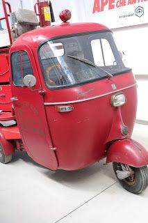 OldMotoDude: 1963 Piaggio Ape Pentaro Firetruck on display at thePiaggio Museum -- Pontedera, Italy