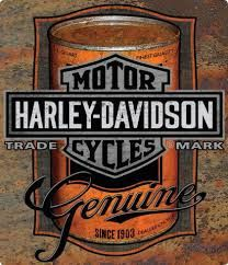 Vintage Motorcycles Harley Davidson Oil Can Tin Sign Ande Rooney Signs - Harley Davidson Oil Can Tin Sign is a brand new embossed tin sign made to look vintage, old, antique, retro. Purchase your embossed tin sign from the Vintage Sign Shak and save.