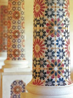 Martyn Bullard's obsession with Moroccan art. He used these beautiful stencils in one of his projects. Moroccan Pattern, Moroccan Design, Moroccan Decor, Moroccan Style, Moroccan Lounge, Moroccan Wall Stencils, Top Interior Designers, Stencil Designs, Tile Stencils
