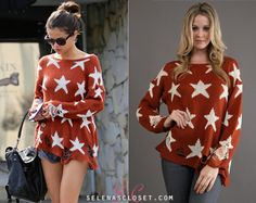 Selena Gomez went out for pizza today wearing this Wildfox sweater we posted back in October Check the post for detail. Selena Gomez Closet, Award Show Dresses, Latest Outfits, Wildfox, Going Out, Floral Tops, Celebrity Style, Shorts, My Style