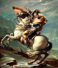 Jacques-Louis David, Napoleon Crossing the Alps or Bonaparte at the St Bernard Pass, oil on canvas, 261 x 221 cm (Chateau de Malmaison, Rueil-Malmaison) The Saint, Napoleon Movie, Last Tango In Paris, Canvas Prints, Art Prints, Canvas Artwork, Cultural, Old Master, Oil Painting On Canvas