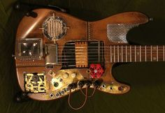 Startling steampunk guitars for retro musicians | Designbuzz : Design ideas and concepts