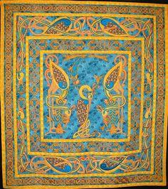 Celtic Cranes, 90 x 80, by Lesley Davies, United Kingdom.  2011 Pacific International Quilt Festival.