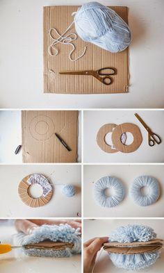 Diy--Pom-Shoes-Tutorial sheep crafts, yarn crafts, home crafts, fabric Sheep Crafts, Yarn Crafts, Fabric Crafts, Diy For Kids, Crafts For Kids, Arts And Crafts, Diy And Crafts Sewing, Diy Crafts, Pom Pom Rug
