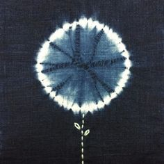 Indigo flower from latest collection | indigo, shibori & stitching | Mini Mai Studio, Singapore