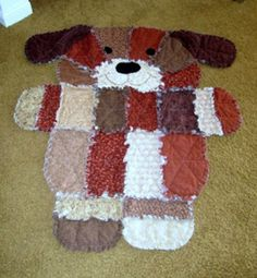 Puppy Dog Rag Quilt