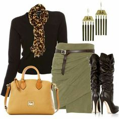 """Fabulous fall outfit. Love the small, impact, yet subtle pieces of this outfit, that make it a subtly stanfout ensamble. Its all in the """"hints"""" of each & every small detail, accessories, accessories, accessories..."""