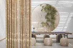 Shixia Cottage by Beijing Shanfangzhu Art Design - 谷德设计网 China Tea House, Chinese Tea Room, Modern Chinese Interior, Flower Cafe, Zen Interiors, Zen Room, Tea Art, 3d Max, Room Lights