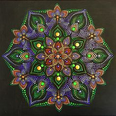Mandala Canvas, Mandala Artwork, Mandala Dots, Mandala Painting, Mandala Design, Dot Art Painting, Stone Painting, Mandela Art, Mandala Painted Rocks