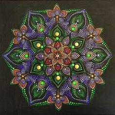 Dot Art Painting, Mandala Painting, Painting Patterns, Stone Painting, Mandala Canvas, Mandala Dots, Mandala Design, Dawn Stone, Mandala Art Lesson