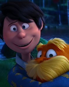 Once ler and the Lorax The Lorax, I Have A Crush, Having A Crush, Disney And Dreamworks, Disney Pixar, 12 Year Old Boy, Auradon, Shadow The Hedgehog, Kid Character