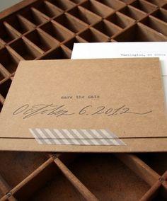 Blackbird Letterpress via Oh So Beautiful Paper kraft paper & washi tape