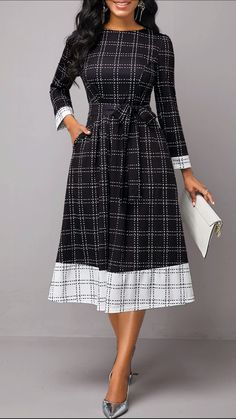 Party Dresses For Women Plaid Print Belted Long Sleeve Dress Tight Dresses, Sexy Dresses, Casual Dresses, Dresses With Sleeves, Party Dress Sale, Club Party Dresses, Cheap Dresses Online, Dresses For Sale, Dress Online