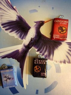 Hunger Games Book Pendants on Etsy, $3.00