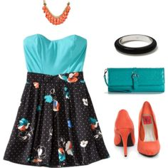 teal and coral... get used to it