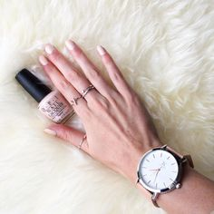 New fav #nailpolish colour by @opinewzealand 'Stop it I'm blushing' because you can lift AND have nice nails  . . Ft @the_timekeepers St Albans watch . . . Sorry in advance for all the beauty and home shots I'm just getting back in to nesting and pampering after a pretty hectic travel schedule. Back to the gym ASAP for a decent sweat session
