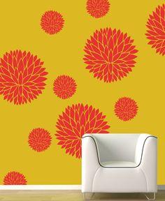 Reusable stencil better than decals Flower PatternDIY by DecorZe, $38.00