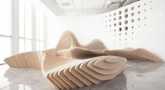 modern office furniture design sculptural benches by dEEP architects