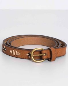 Pull&Bear - mujer - cinturones - cinturón pespuntes - cuero - 09870303-I2016