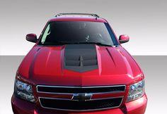 2007-2014 Chevrolet Tahoe Suburban Avalanche Duraflex ZL1 Look Hood - 1 Piece
