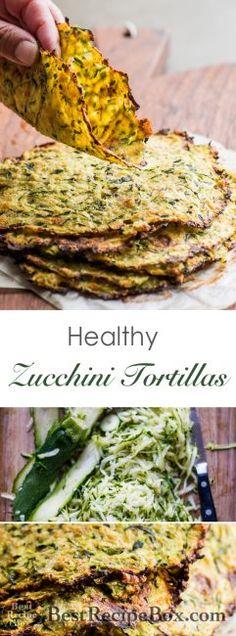 Healthy zucchini tortillas