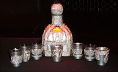 Pimped out magnum Patron bottle, Lil Jon is truly the king! Tumblers, Bling Bottles, Custom Bottles, Personalized Cups, 50th Birthday, Little Gifts, Craft Projects, Crystals, Diamond