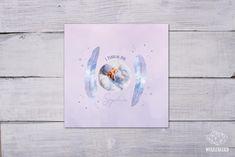 Geburtsanzeige oder Einladung zur Taufe Design, Clouds, Invitations, Birth
