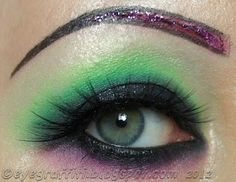 EyeGraffiti: Highlighted Club Green Eyes