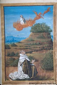 Book of Hours, MS M.677 fol. 311r - Elijah - Images from Medieval and Renaissance Manuscripts - The Morgan Library & Museum