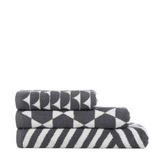Ben de Lisi Home Designer dark grey geometric towel- at Debenhams.com