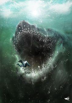 Sea monster by meronfeisu