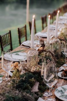 Why do I have a feeling that today&'s romantic wedding on the river of Mincio North of Italy is something every young couple's dream? You must see how adorable and lovable today's young bride and groom on Forest Wedding Reception, Wedding Reception Decorations, Reception Ideas, Wedding Tables, Wedding Receptions, Wedding Ideas, Luxury Wedding, Dream Wedding, Boho Wedding