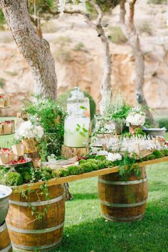 Elegant Greek outdoor wedding: http://www.stylemepretty.com/2016/11/07/this-greek-wedding-is-total-floral-goals/ Photography: Anna Roussos - http://www.annaroussos.com/