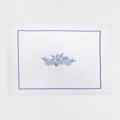 CORAL EMBROIDERED BATH MAT: for villa 2 downstairs powder room/guest bathroom