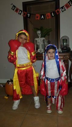 ffb451c659b6 Rocky Balboa and Ivan Drago kid brother costumes! Rocky IV child boxer  costumes. Rocky