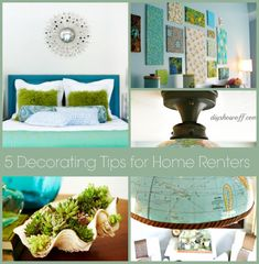 5 decorating tips for renters. Great temporary decorating ideas!