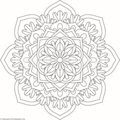 Flower Mandala Coloring Pages Coloring Book Art, Doodle Coloring, Mandala Coloring Pages, Colouring Pages, Flower Mandala, Mandala Art, Trippy Drawings, Printable Adult Coloring Pages, Mandala Pattern